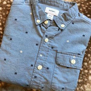 Boys Old Navy Button Down Dress Shirt